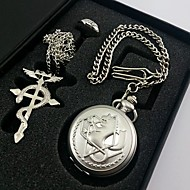 Fullmetal Alchemist Edward Elric Pocket Watch+Necklace+Ring Cosplay Accessories Set(3PCS) Cool Watch Unique Watch