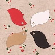 50st blad kraftpapier hang tags labels voor bladwijzer geschenk bakkerij verpakkende huwelijksfeest prijskaarten (meer kleuren)