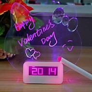 Creative Message Board Luminous Plastic Electronic Alarm Clock(Random color)