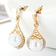 Stud Earrings Men's Alloy Earring Pearl/Cubic Zirconia