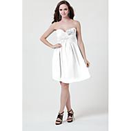 Short/Mini Chiffon Bridesmaid Dress - White / Silver / Black / Ruby / Burgundy / Ink Blue / Royal Blue / Grape / Fuchsia Sheath/Column
