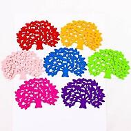 boomvorm coaster beker mat pad voor kom mok glasplaat bruiloft terugkeer geschenk (3pcs / set, willekeurige kleur)