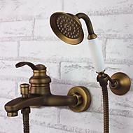 עתיק מקלחת ואמבטיה שפורפרת יד כלולה with  שסתום קרמי חורים שלוש ידית אחת for  פליז עתיק , ברז לאמבטיה