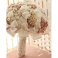 Luxury Rhinestone Pearl Wedding Bouquets European Style Bridal Bouquets Wedding Accessories Rose Flower