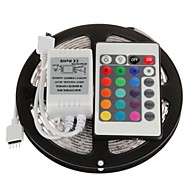 ZDM™ 5M 300X3528 SMD RGB LED Strip Light with 24Key Remote Controller (DC12V)