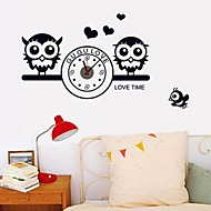 Wall Clock Stickers Wall Decals, Owl and Battery Feature Removable  PVC Wall Stickers