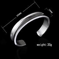 Damen Armbänder Breiter Armreif Silber Ohne Stein