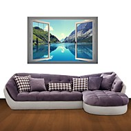 3D Wall Stickers Wall Decals, Mountain Lakes Decor Vinyl Wall Stickers
