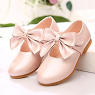 Girl's Flats Spring Fall Leatherette Outdoor Dress Flat Heel Bowknot Pink Gold Coral