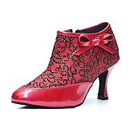 botas de salto stiletto das mulheres modernas rendas sapatos zipper de dança (mais cores)