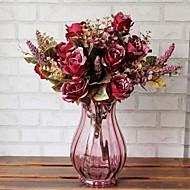 6 head vysoce kvalitní evropanství palác růže simulace květ
