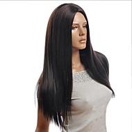 luonnon musta pistettä korkean lämpötilan silkki pitkät suorat hiukset