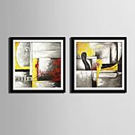 Animal / Φαντασία Καμβάς σε Κορνίζα / Σετ σε Κορνίζα Wall Art,PVC Μαύρο Περιλαμβάνεται Χάρτινο Φόντο με Πλαίσιο Wall Art