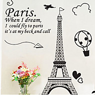Environmental Removable Paris PVC Wall Sticker