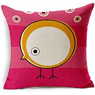 modern stil rosa tecknad fågel mönstrad bomull / linne dekorativa örngott