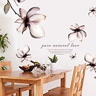 Wall Stickers Wall Decals Fantasy Flowers Feature Removable Washable PVC