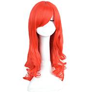 angelaicos naisten prinsessa Ariel pieni merenneito punainen kihara pitkä halloween puku cosplay hiukset täynnä peruukki