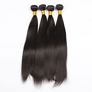 4Pcs/lot 24inch Raw Brazilian Virgin Hair Natural Black Straight Human Hair Weaving Weft