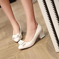 נעלי נשים - בלרינה\עקבים - עור פטנט - עקבים / שפיץ - שחור / ורוד / אדום / לבן / זהב / בז' - שמלה - עקב עבה