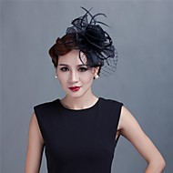 Women Wedding/Party Satin Fascinator with Feathers SFC12171