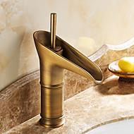 Tradicional Conjunto Central Válvula Cerâmica Monocomando Uma Abertura com Latão Antiquado Torneira pia do banheiro