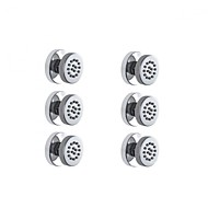 6PCS ROND BODY SPRAYS MASSAGE SPA SHOWER JETS SET BRASS CONSTRUCTION