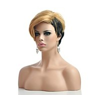 Hot Short Straight Part Wigs Ladies' Synthetic Hair Mix Color