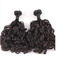 """3pcs/lot Peruvian Hair Curly #1B 10"""" ~ 34"""" Funmi Hair Weaves"""
