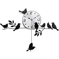 Horloge murale - Nouveauté - Moderne/Contemporain/Rustique/Casual/Rétro - en Aluminium
