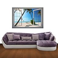 3D Wall Stickers Wall Decals, Hammocks Beach Decor Vinyl Wall Stickers