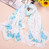 Shawls Chiffon Rose Print Casual/Special Occasion Scarves(More Colors)