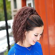 자연 블랙 (#1B) / 다크 브라운 (#2) / 라이트 오번 (#30) / 다크 오번 (#33) 합성의 포니 테일 요동하는 Micro Ring Hair Extensions 포니 테일 15inch 그램 수량