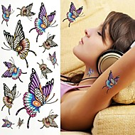 Colorful Butterfly Tattoo Stickers Temporary Tattoos(1 pc)