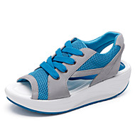 Women's Spring Summer Slingback Synthetic Faux Suede Lace-up Blue Green Pink Fitness & Cross Training