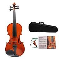 ASTONVILA Bright Natrual Colored Violin with White Rim Rosin+Violin Bow+Foam Boex