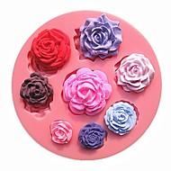 Nyolc különböző minta méretét rózsa virág csokoládétorta penész