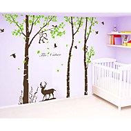 Wall Stickers Wall Decals,  Large Tree with Deer Monkey Wall Sticker