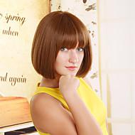 תיקון פאת שיער חום קצר פני אופנה אירופאיות ואמריקניות