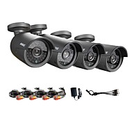 annke® ahd 720p hd-ir cut filter beveiliging camera kit, outdoor metalen behuizing vandalismebestendig IP / analogie camera