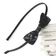 Women Vintage/Work Sequin Small Paillette Bow Headbands
