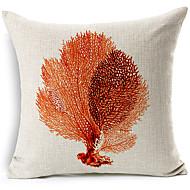 mar estilo moderno deixa modelado algodão / linho cobertura decorativa travesseiro