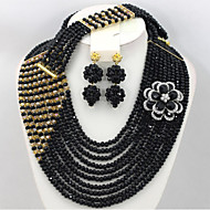 Fashion African Beads Jewelry Set Crystal Beads Costume Jewelry Set Wedding Jewelry