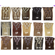 20'' 7pcs Clips in Human Hair Extensions 70g for Women's Beauty Hairsalon in Fashion Many Colours Available