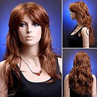 móda přírodní velké hnědé vlnité vysoce kvalitní syntetické vlasy