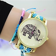Women's New Ethnic Original Hand-woven Exquisite DIY Elephant Watches
