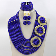 Fashion Bridal Necklace Set African Wedding Crystal Costume Jewelry Set