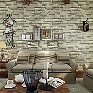 Contemporary Brick Wallpaper Geometric Wall Covering PVC/Vinyl Wall Art