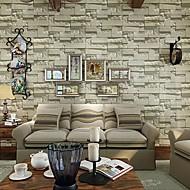 moderne mursten tapet geometriske vægbeklædning PVC / vinyl væg kunst