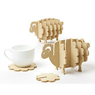 en forme de moutons montagnes de bois, 17 * 10.5 * 9.5cm (6.8 * 4.2 * 3.8inch)