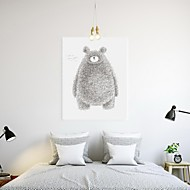 Stretched Canvas Print Art Abstract Bear Set of 1